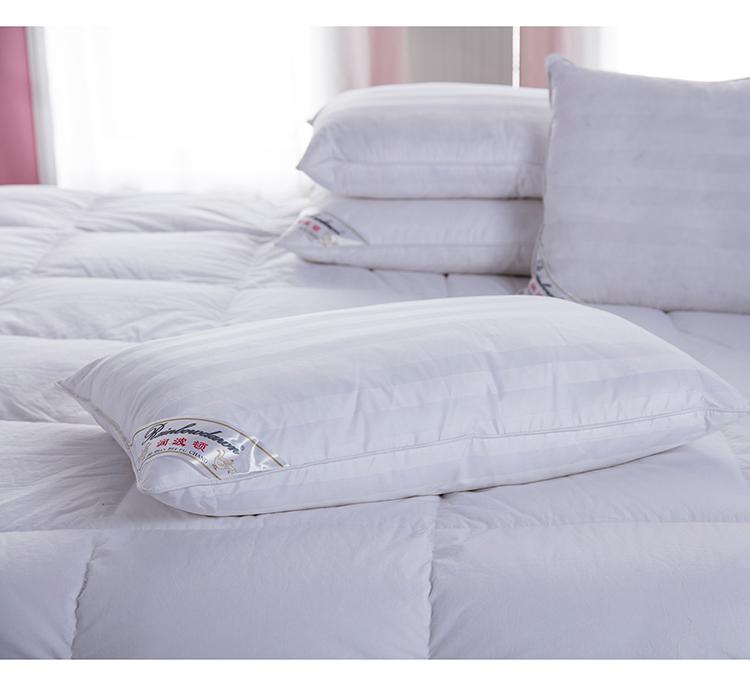 条子羽绒枕